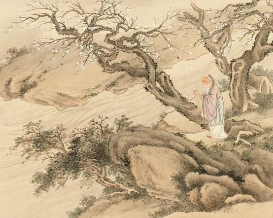 Hoàng Phác đi dọc theo bờ sông, đến một nơi nước quá sâu không thể qua được, liền thấy một ông già râu bạc đang đốn củi trên bờ
